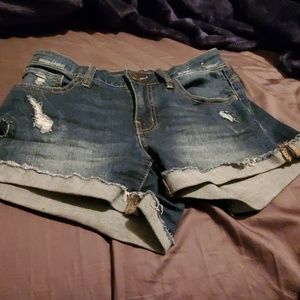 SO Highrise Jr. Shortie Denim Shorts